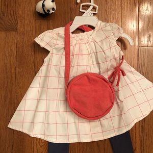 NWT. Isaac Mizrahi shirt & pants & matching purse